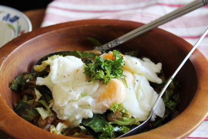 polish-cabbage-dill-recipe-easy-poached-eggs